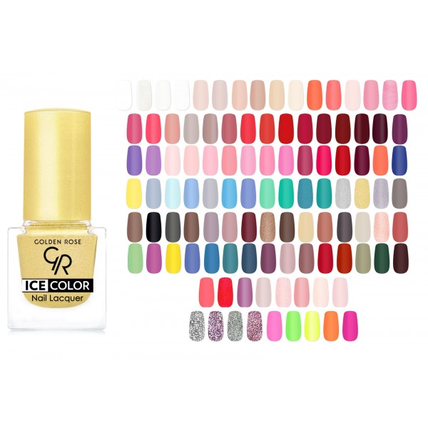 Golden Rose lak na nehty ICE COLOR mini