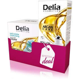 DELIA DUOPACK ARGAN CARE Krém proti vráskám 50 ml + oční roll-on 15 ml