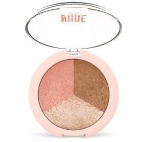 Golden Rose NUDE LOOK baked trio face powder (pudr, rozjasňovač, tvářenka)