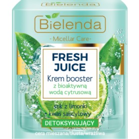Bielenda Fresh Juice Cream booster detoxifying lime juice pleťový krém