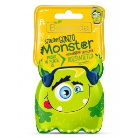 Bielenda Monster Mask Brightening 3D sheet mask pleťová maska (plátýnková)