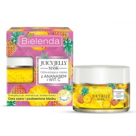 Bielenda Juicy Jelly face mask pleťová maska ananas
